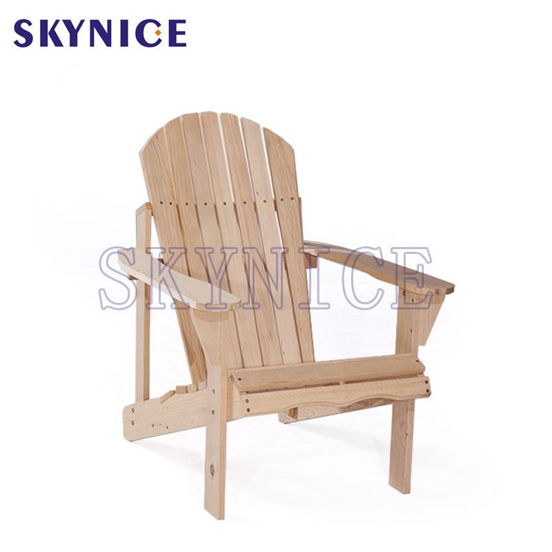 Venkovní Natural Fir Wood Rocking Chair Patio Deck Frog Chair